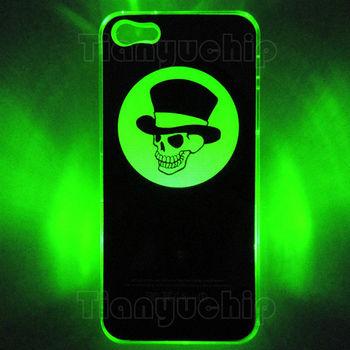 来电闪手机壳 苹果5代保护套 led发光跑马灯七彩夜光保护壳 经典