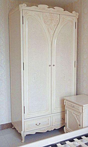 供应欧式衣柜双门衣柜 欧式实木衣柜白色衣柜 欧式套房家具批发