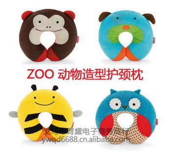 skiphop儿童可爱动物造型护颈枕婴儿枕保护宝宝头型u形枕批发