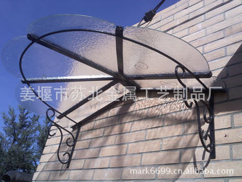 【苏北出口精品】欧式家居铁艺遮阳棚 金属遮雨棚 装饰阳光铁顶蓬