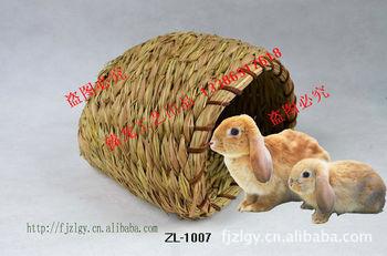 厂家直供宠物窝垫 兔子窝 兔子草窝 芦苇草窝 纯手工编织