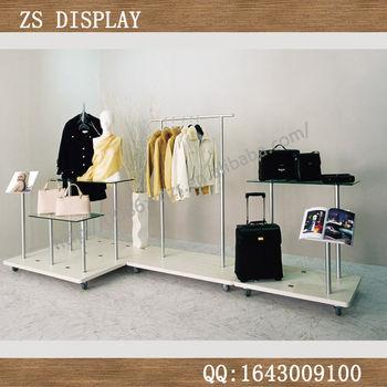 包包展示柜 玻璃包包架 服装货架 服装货架展示架 鞋货架展示架