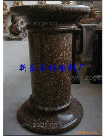 供应欧式罗马柱雕刻 石雕柱子 大理石罗马柱 花盆柱雕刻ws-16