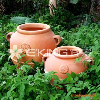陶罐 陶烧菊花形陶罐 园林花盆 装饰花盆 欧式园艺 庭园景观花盆