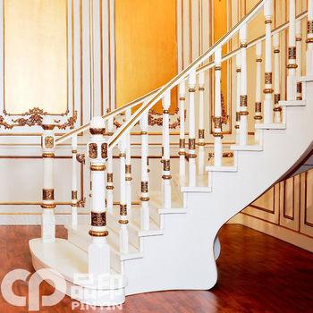 车身及附件 扶手,把手,拉手 楼梯踏步实木 品印楼梯/实木楼梯/欧式