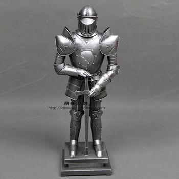 中世纪盔甲人 欧式小盔甲 复古士兵模型 个性小盔甲 会所酒吧装饰
