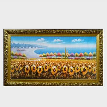 批发手绘油画向日葵装饰画 酒店装饰画风景工艺画床头