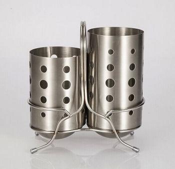 不锈钢筷子筒套装 冲圆孔冲方孔冲五角星型筷筒 沥水器 筷子架