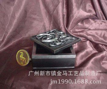 【金马】抽象花纹盒子 玻璃钢工艺品 立体雕塑装饰摆件 商业美陈