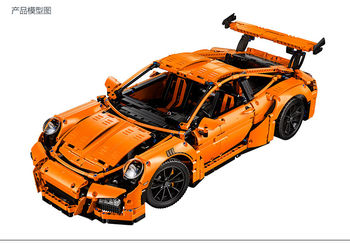 保时捷911超级跑车旗舰版拼插拼装益智积木玩具乐拼20001