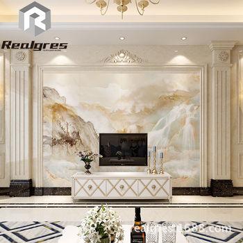 客厅电视背景墙瓷砖 欧式罗马柱装饰边框3d仿大理石背景墙影视墙