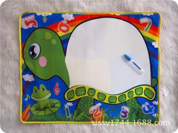 彩色神奇水画布 水魔法画布 创意涂鸦毯 超可爱动物水