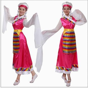 藏族舞蹈演出服装 藏族舞蹈女装