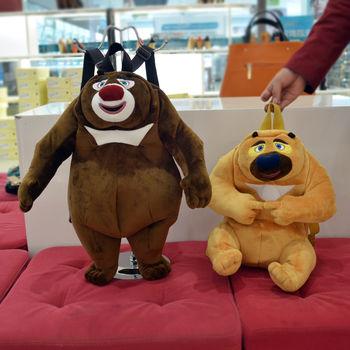 厂家供应 可爱包包 熊出没书包 熊二 熊大 光头强玩具