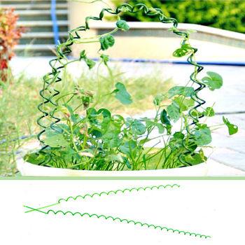 批发螺旋支架藤蔓爬藤植物支柱架花盆架包塑铁丝园艺植物造型支架