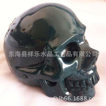 天然半宝石玛瑙头骨 宝石雕刻骷髅头  价   格 180 商品行业 机械五金