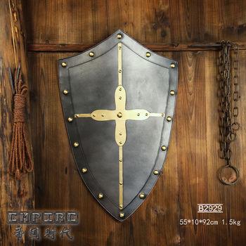 b2929中世纪骑士盾牌/咖啡馆/仿古欧式酒吧装饰/书房工艺装饰品