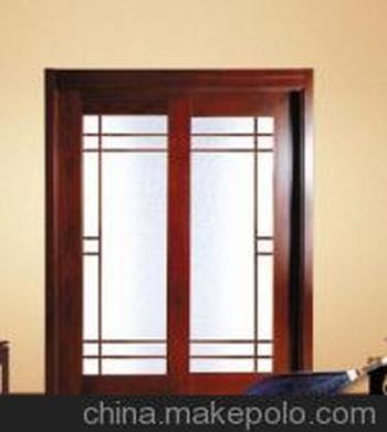 供应香枫印象新款双开镶玻璃门现代时尚木门厂家直销