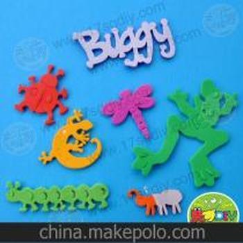 背胶eva昆虫彩色贴片-幼儿园手工diy基础材料-儿童diy