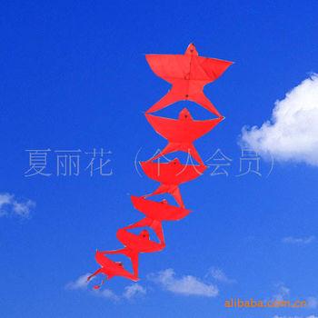 批发供应串燕子风筝(一串6个)两种颜色 随机发货 5件起批