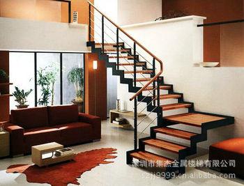 是非常独特而魅力十足的楼梯,宛如积木一般,可以随意选择有无立板、双边或单边结构,并有多种不同材质的围栏和千变万化的色系。它能恰如其分地溶入您的居室环境。而且永远不会过时。可以根据您的需要搭配书架或壁橱,方便收纳物品,同时也起到装饰的作用。深圳市金属楼梯有限公司,主营各种护栏、阳台栏杆、公共区域栏杆、消防楼梯栏杆、不锈钢护栏、室内外栏杆、金属栏杆、铁艺栏杆、景观栏杆、别墅及复式房组装楼梯。