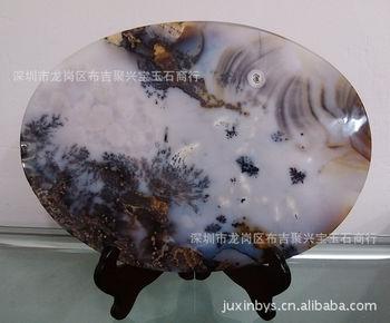 天然草花玛瑙 海洋玉髓 奇石玛瑙 精美风景画玛瑙