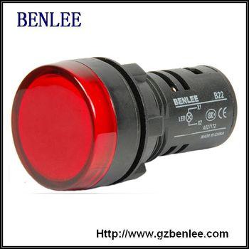 广州本立 厂家供应 22mm 短型红色指示灯 现货