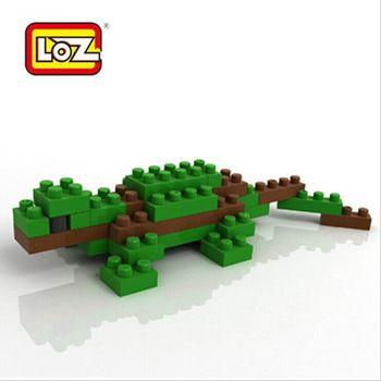 loz俐智 乐高式益智钻石积木 袋装动物系列9277蜥蜴 w