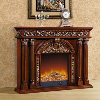 高档雕刻欧式壁炉 1.66米 实木壁炉电视柜 仿古 佛山厂家批发
