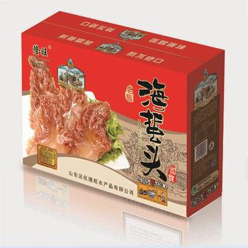 山东特产 即食海鲜礼盒 海蜇头丝皮 300克8包批发包邮