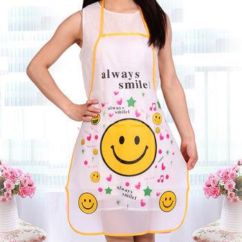 韩版可爱公卡通防水围裙 半身厨房防油无袖kt猫定制logo居家用品