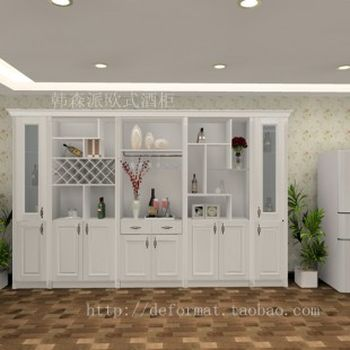 欧式酒柜效果图设计客厅欧式酒柜广州韩森派家具
