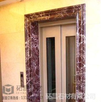 济南电梯装修用仿大理石门套欧式门框定制