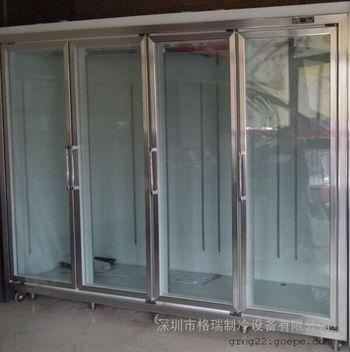 定制豪华玻璃门饮料柜,立式冷饮展示柜,铝合金边框牛奶保鲜柜