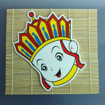 幼儿园室内装饰 手工diy唐僧脸谱面具 西游记布置道具